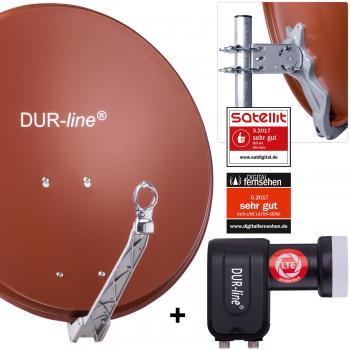DUR-line ALU Select 60 R mit +Ultra Twin - 2 Teilnehmer Set - Rot