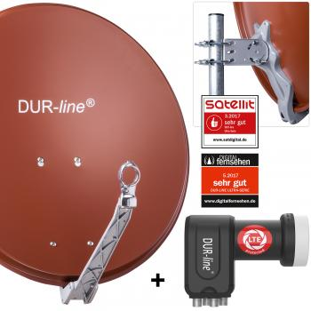 DUR-line ALU Select 60 R mit +Ultra Quad - 4 Teilnehmer Set - Rot