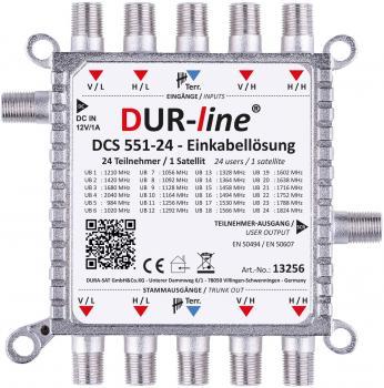 DUR-line DCS 551-24 - Einkabellösung für 24 Teilnehmer für Quattro LNB - 1 x 24 SCR/DCSS Userbänder - kaskadierbar